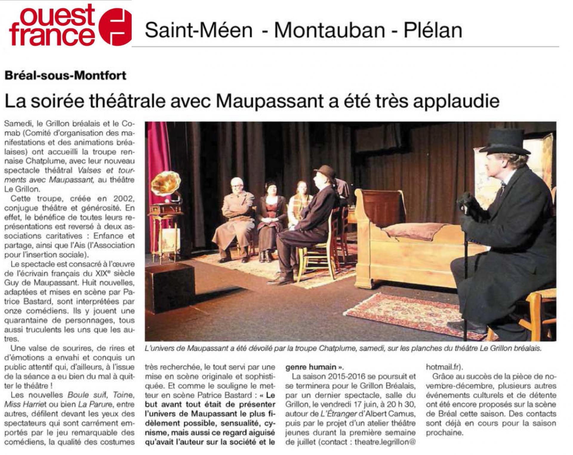 Revue de presse of 27 04 16